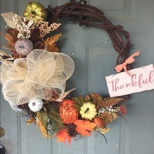 Other - Thanksgiving grapevine wreath